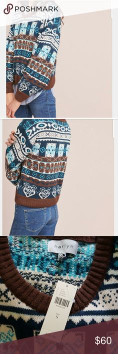 Harlyn Fair Isle Sweater NWT Size Small NWT Anthropologie Sweaters