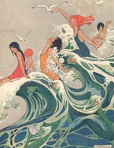 Sea Fairies, an illustration by Edna Cooke for Ladies Home Journal, 1910