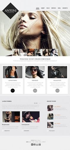 Template 42688 - Photographer Portfolio Drupal Website Template