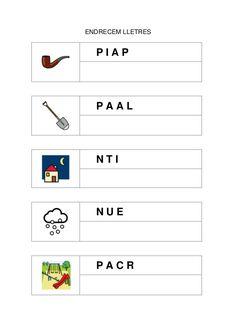Fitxes per treballar la consciència fonològica Catalan Language, Colegio Ideas, Preschool Worksheets, Montessori, Teacher, Writing, Reading, Mall, School