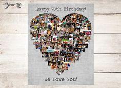 70th Birthday Gift 70th Wedding Anniversary by YourLifeMyDesign