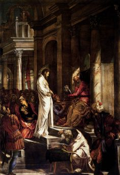 Jesus envisions the verdict of the Sanhedrin being overturned in God's court. He draws from Ps 110:1 and Dan 7:13 to predict his enthronement at the Father's right hand and his vindication as the royal Son of man.