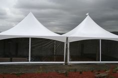 Fear the weather no more! By adding either windowed or solid white sidewalls to your tent rental, you'll be able to keep your guests comfortable no matter what the weather! Pictured is a 20X40 frame tent with sidewalls.