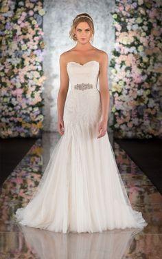 Lace & Tulle Classic Wedding Dress   Martina Liana Wedding Dresses