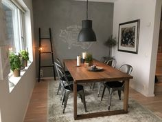 IKEA table Morbylanga + Tolix