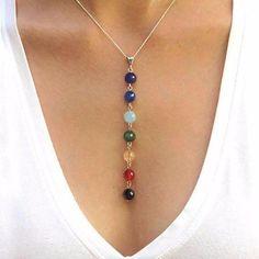 Diy Jewelry Necklace, Chakra Jewelry, Beaded Bracelets, Chakra Necklace, Necklace Ideas, Diy Necklace Pendant, Jewelry Ideas, Chakra Beads, Diy Jewelry Inspiration