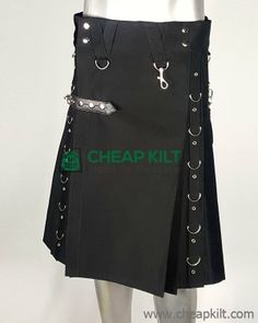 Do you want to look fashionable and stylish wearing your kilt? Created especially for guys like is this Gothic style fashion kilt made of cotton for comfort and classy look. kilts for men, kilts for sale Denim Fashion, Fashion Outfits, Style Fashion, Cheap Kilts, Kilt Shop, Kilt Hire, Kilts For Sale, Leather Kilt, Utility Kilt