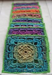 """Ravelry: Shell Collection 6"""" Granny Square pattern by Shelley Husband"""