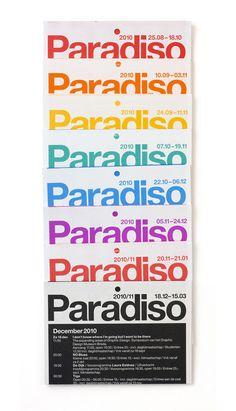 experimental jetset modern typography graphic design paradiso flyer