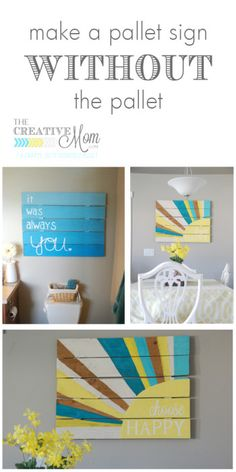 how to make a pallet sign WITHOUT the pallet | The Creative Mom