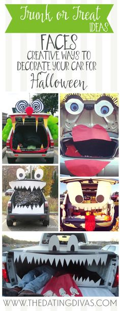 Super creative Trunk or Treat ideas! I just hit the jackpot of ideas! www.TheDatingDivas.com