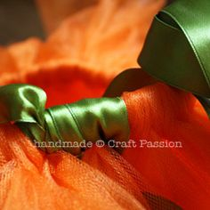 how to make Katie's satin ribbon wrapped tutu for her costume