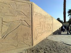 The top of an obelisk in the Temple of Karnak [shared]