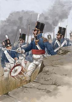 The Portuguese attack Arapiles, July 22, 1812, Peninsular War.: