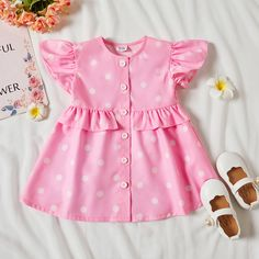 Baby Girl Dress Design, Girls Frock Design, Baby Girl Dress Patterns, Baby Clothes Patterns, Dress Sewing Patterns, Baby Girl Dresses, Cotton Frocks For Kids, Frocks For Girls, Baby Frocks Designs
