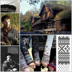 WABI SABI Scandinavia - one of Sweden's largest ad free design blogs.: Black And White Knitting Norwegian style