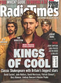 Click through to see articles about The Hollow Crown by Whishaw, Irons, and Hiddleston (2012)