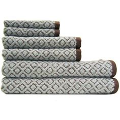 Merveilleux Better Homes And Gardens Kendo Extra Absorbent 6 Piece Towel Set  Chocolate  Brown And Beige
