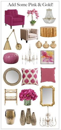 Every room needs some pink and gold!