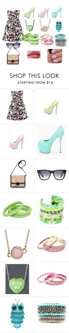 """living the summer"" by erig-opt ❤ liked on Polyvore featuring H&M, AX Paris, Giuseppe Zanotti, Marc by Marc Jacobs, Madewell, Ted Rossi, Lee Angel Jewelry, Chamak by Priya Kakkar, Beyond Rings and 2b bebe"