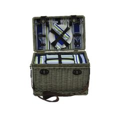 Y480 AEGEAN 4 Person Wicker Picnic Basket