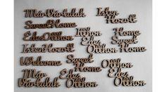 12 db különböző Isten Hozott, Édes Otthon, Sweet Home, Welcome felirat - KreatívHobbyDekor webáruház