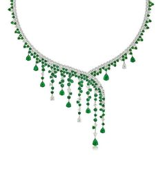 Exquisite Stenzhorn emerald and diamond necklace (=)