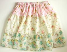 vintage sheet skirt. i have lots of vintage floral sheets! Gonna do this for myself and my daughter next spring!