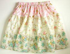 #vintage sheet skirt