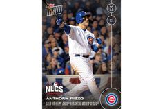 Topps NOW Card 616: Anthony Rizzo's Solo HR Helps Cubs Reach First World Series Since 1945 FREE SHIPPING (choose Smartpost) Topps NOW™ Celebrates Baseball's Greatest Moments... As They Happen. Available For 24 Hours, Only At Topps.com