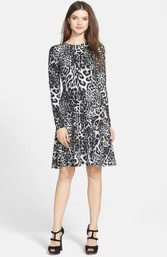 MICHAEL Michael Kors   'Fremont' Leopard Print Fit & Flare Dress. LOVE!