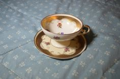 Beautiful Vintage Cup and Saucer by Oscar by FaireGloriana on Etsy