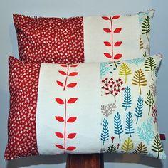 cute pillows- 3 different fabrics