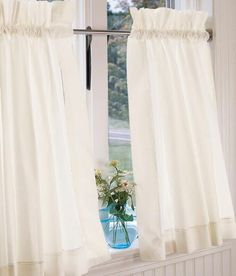 Hemstitch Cafe Curtains