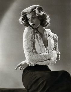 Katharine Hepburn. Kate had many attributes we admire but she was also gorgeous and had great HAIR!