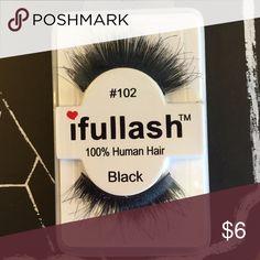 Human hair lashes #102 Human hair lashes Makeup False Eyelashes