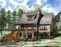 Beautiful A Comfortable Entry Porch Graces The Front Of This Elevated Cottage House  Plan. Enter Into