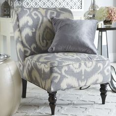 Addyson Chair - Gray Ikat