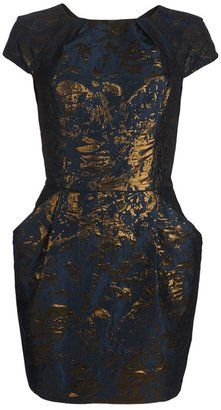 Shop for Opulence Dress by AllSaints at ShopStyle. Structured Dress, Dress Shapes, Pattern Cutting, Jacquard Fabric, Metallic Thread, All Saints, Slim, Formal Dresses