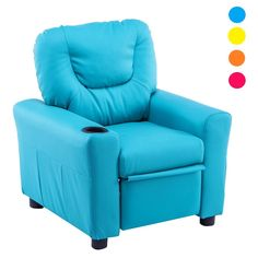 MCombo Kids Recliner Armchair Childrens Furniture Sofa Seat Couch Chair w/Cup Holder 7240 Blue >>> Want added info? Click the image. (This is an affiliate link). Kids Recliner Chair, Kids Sofa, Sofa Chair, Recliner Armchair, Couch, Sofa Seats, Leather Recliner, Reclining Sofa, Sofa Furniture
