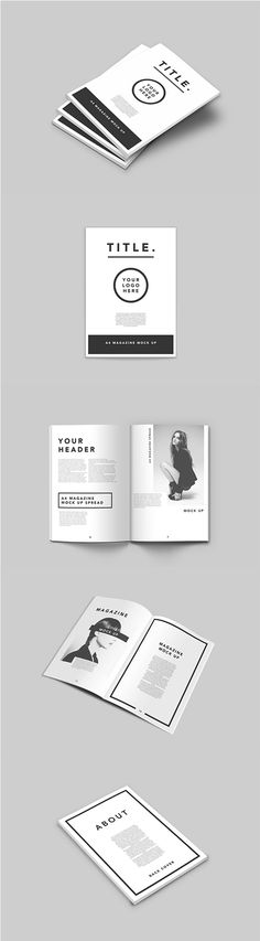 Showcasing print advertising templates