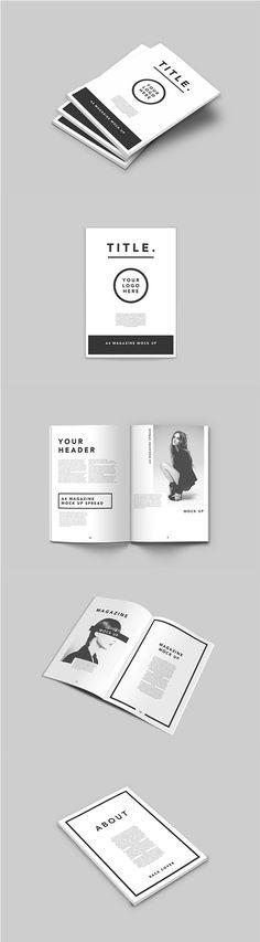 Showcasing print advertising templates