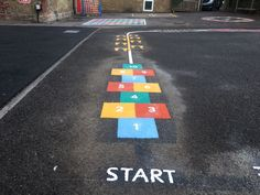 Millstead & Frinsted primary school, Sittingbourne, Kent recently updated  their playground with new thermoplastic playground markings.