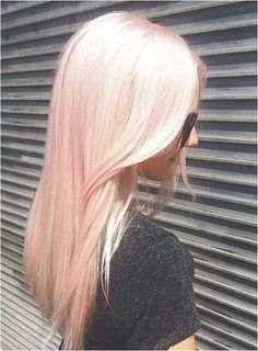 Pink hair by Loren Miles for Bleach London. Peach Hair, Pink Hair, Pastel Hair, Ombre Hair, Love Hair, Gorgeous Hair, Long Curly Hair, Curly Hair Styles, Coloured Hair