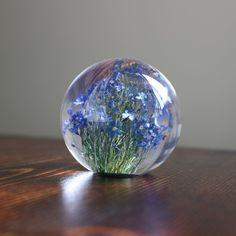 Hafod Grange - Paperweight S #forget me not(A)