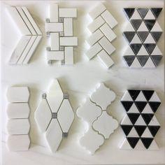 Cordelio Bianco Dolomite Basket Weave x Marble Mosaic Tile Marble Mosaic, Mosaic Tiles, Wall Tiles, Cement Tiles, Tiling, Renovation Design, Home Renovation, 3d Wall Panels, Chevron