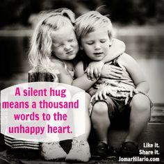 Un abrazo llega a tener más sentido común que un montón de palabras bonitas. Friends Forever, Best Friends, Loyal Friends, Happy Hug Day, Happy Life, Brother Quotes, Young Love, Friendship Quotes, Happy Friendship