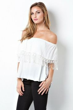 Off White Crinkled Top – LaV's Boutique