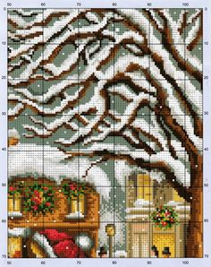Little Girl in Red 3/6 [Pattern / Chart] [Christmas - Cross Stitch]