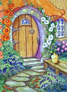 ARTIST: ALIDA AKERS on Pinterest | Storybook Cottage, Fine art and ...